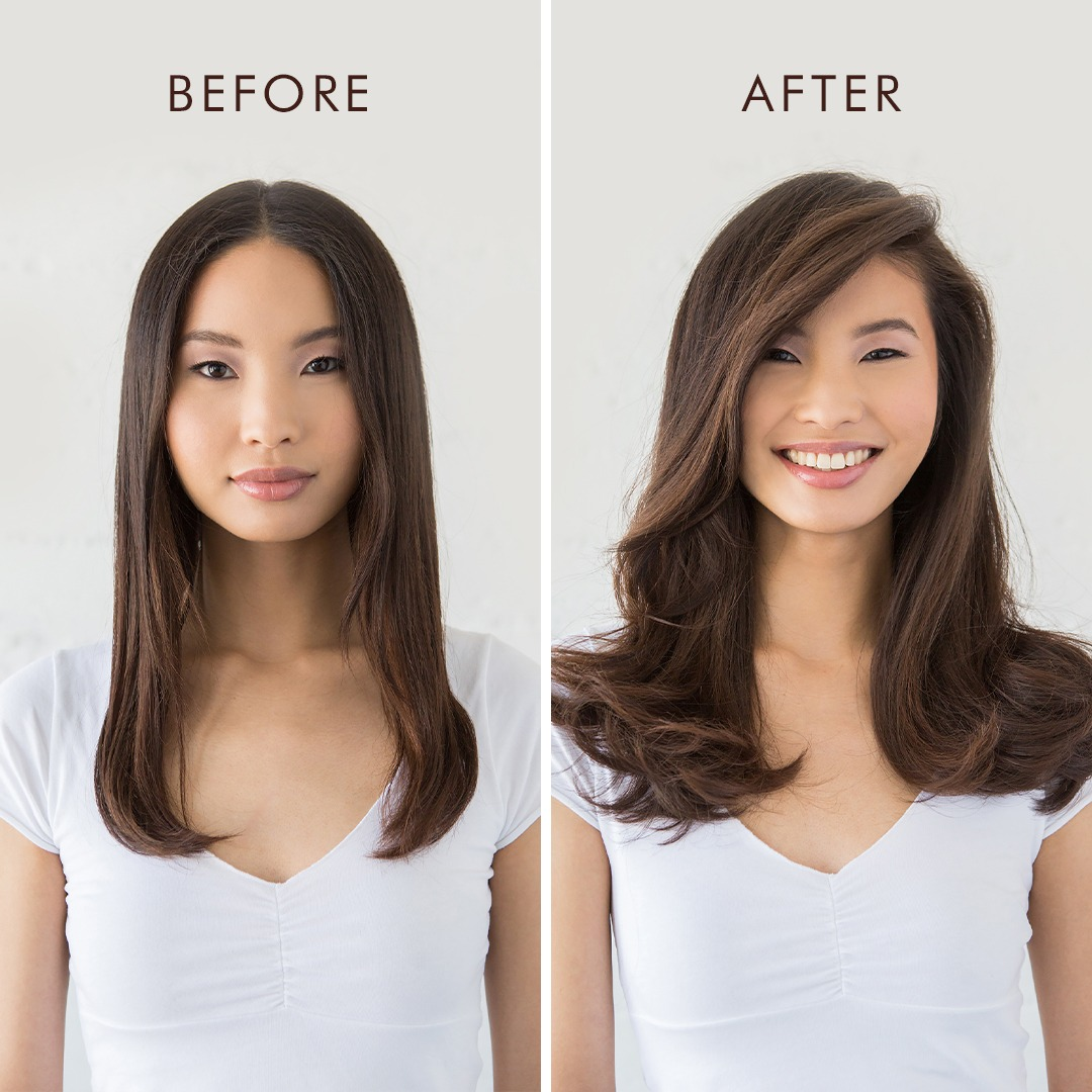 Leave In Conditioner + Volumizing Mist Before and After on Model
